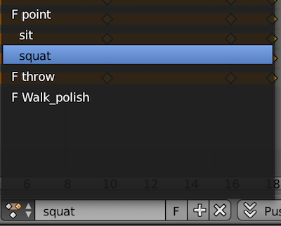 Blender Action Editor Dropdown