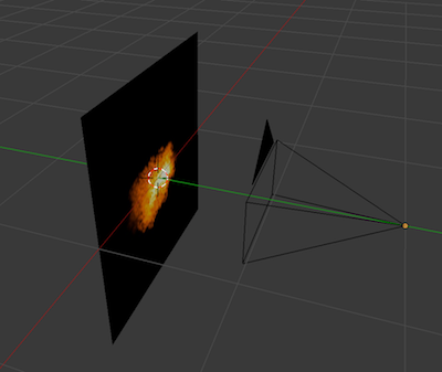 Camera facing particle